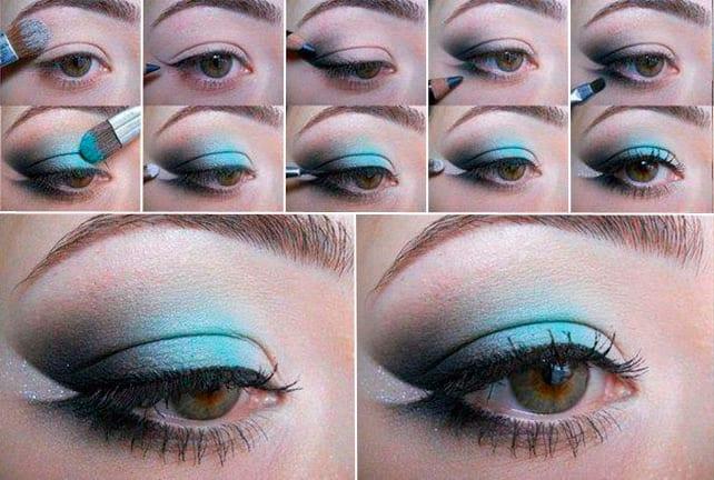Макияж для серо-зеленых глаз на выпускной