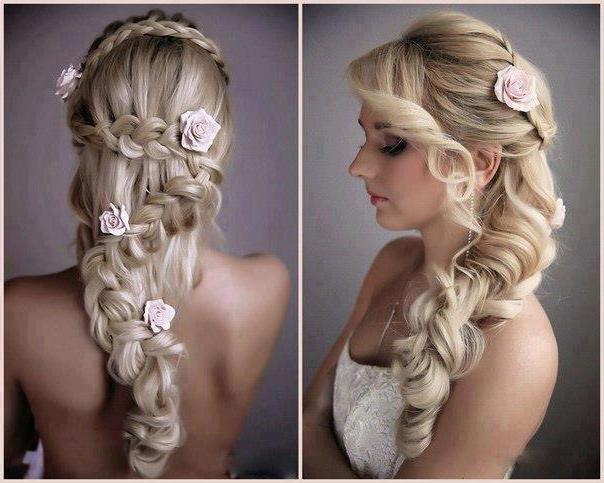 Причёски на свадьбу своими руками фото