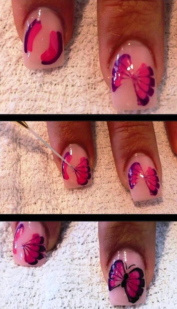 Нарисовать ногти дома 6