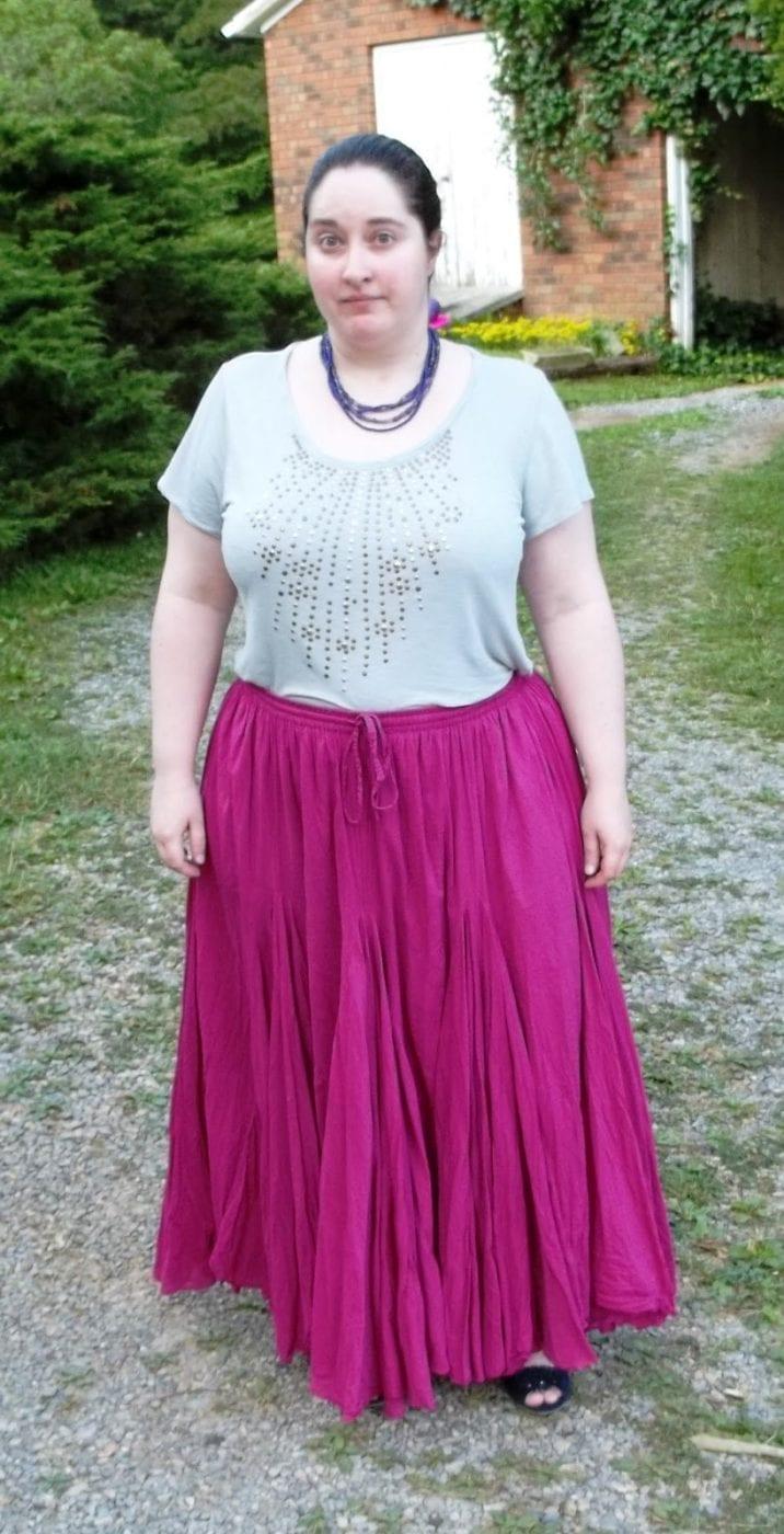 Длинные юбки для полных и невысоких
