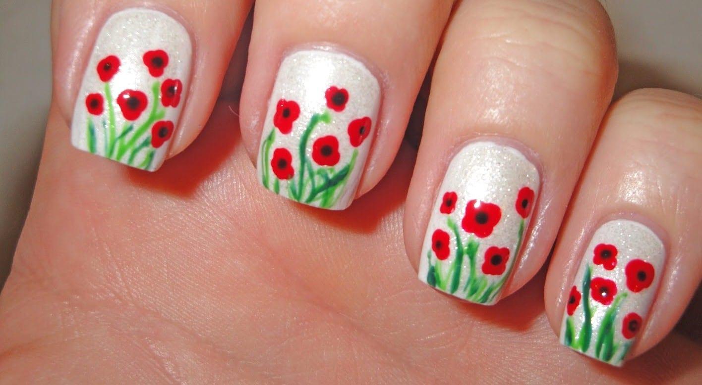 Рисунки на ногтях для начинающих фото цветы