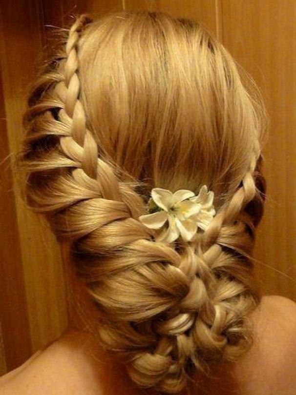 плетем косички свадебные прически