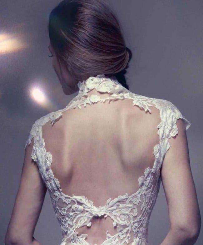 Кружевное свадебное платье русалка с