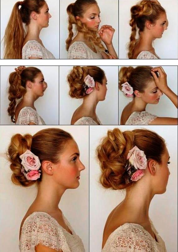 Причёски для длинных волос сделай сама