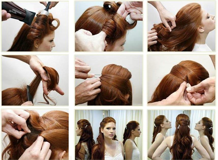 как сделать прическу на длинные волосы пошагово