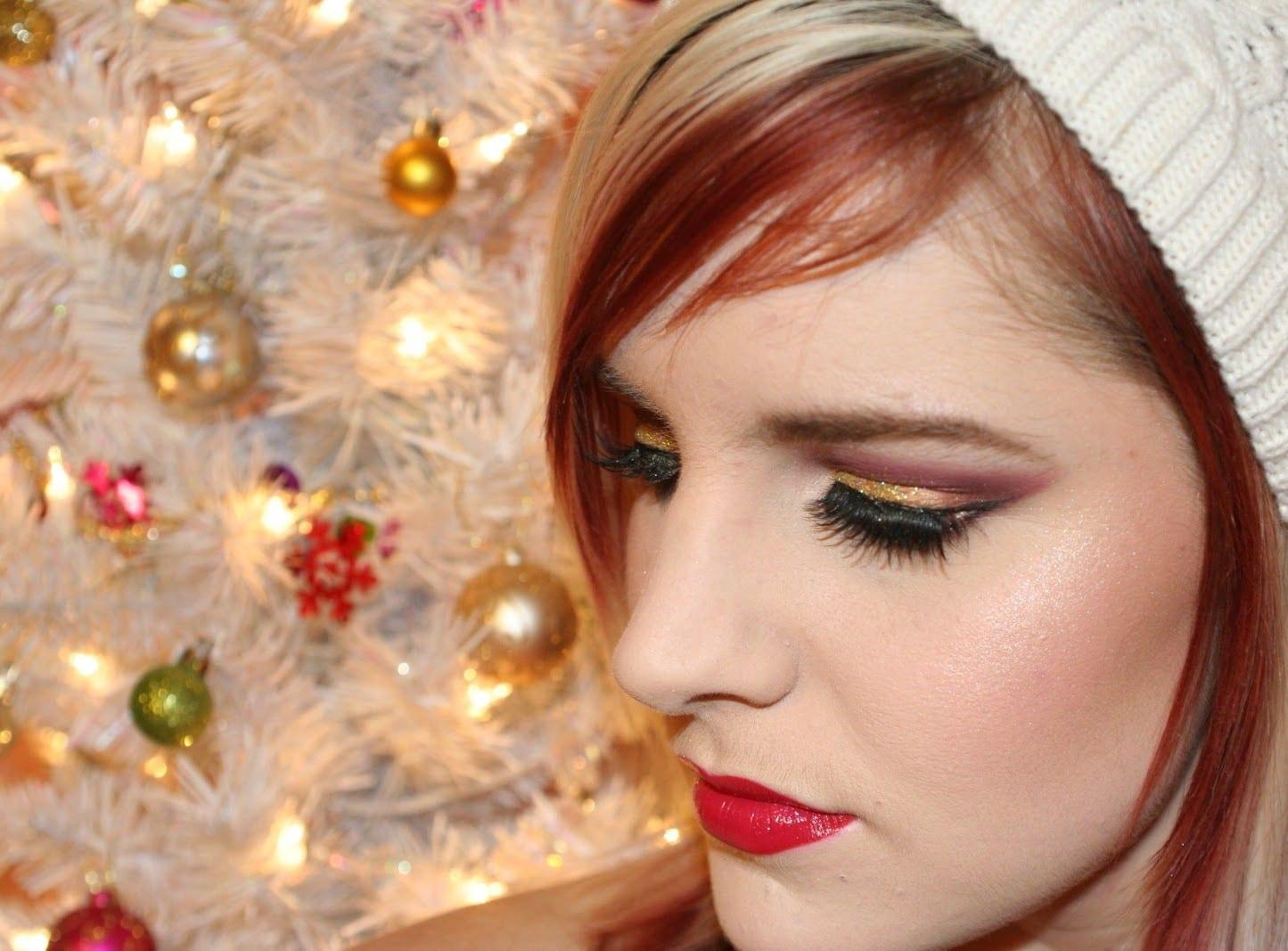 Новогодние макияж и фото