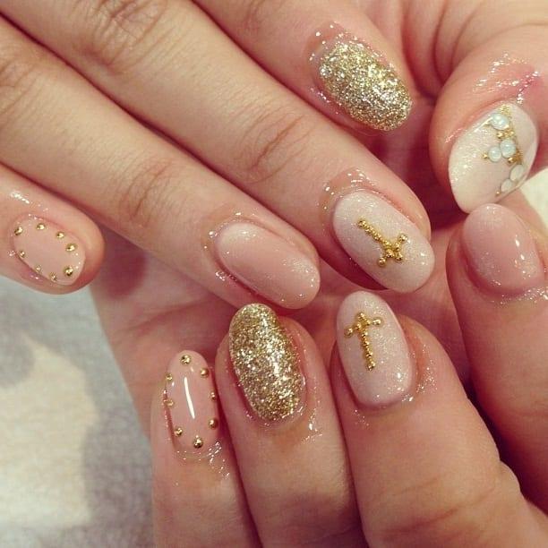 Свадебный дизайн ногтей гель-лаком фото