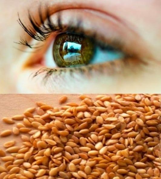 Маска из семян льна на глаза
