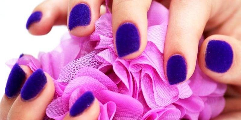 Как сделать бархатистые ногти