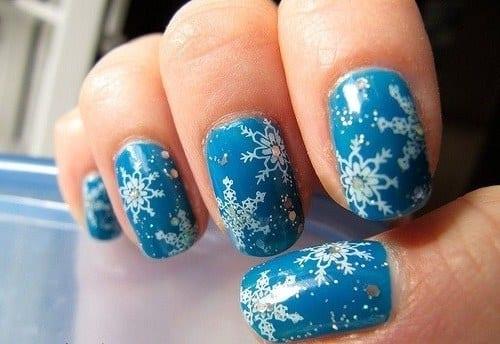 Картинки на ногти зима