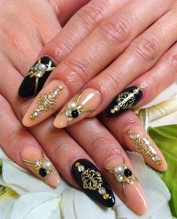 Дизайн ногтей коричневый и бежевый цвет