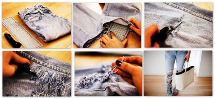 Что можно сшить из старых джинс с выкройками фото 898