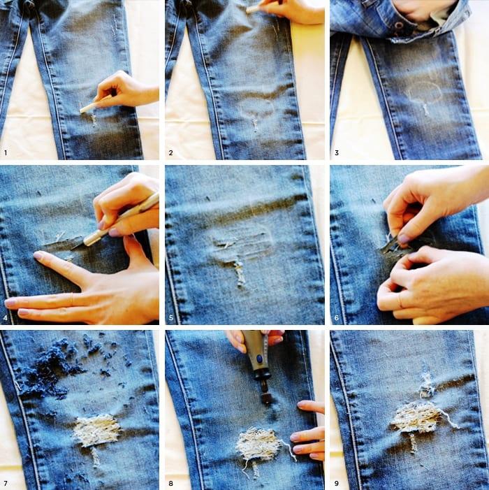 """""""Дырявые"""" джинсы"""