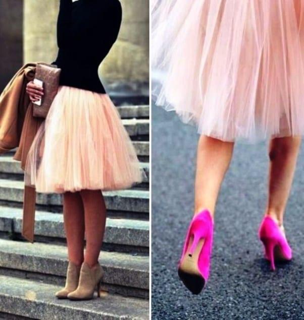 Пышные многослойные юбки из фатина