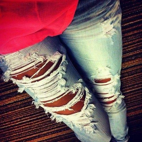Фото девушек в рваных джинсах без лица фото 470-747