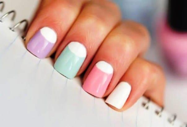 Пастель на ногтях