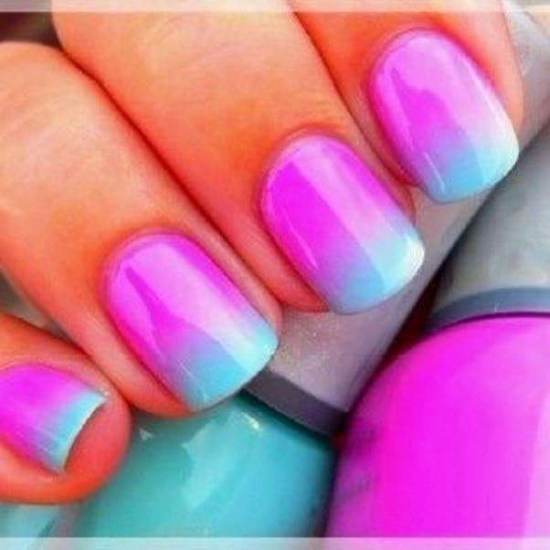 дизайн ногтей с помощью губки: