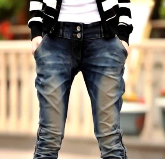 Женские джинсы-галифе
