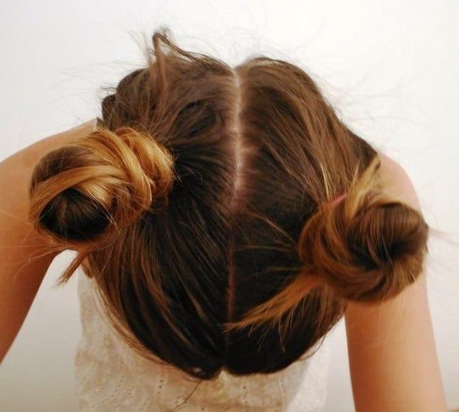 Красивые шишки прически для волос