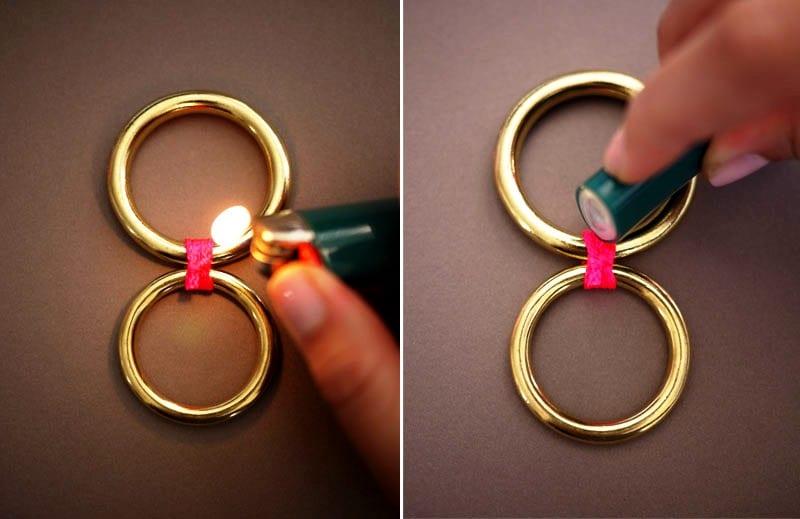 Как сделать большое кольцо 111