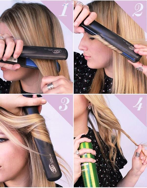 Причёски с утюжком
