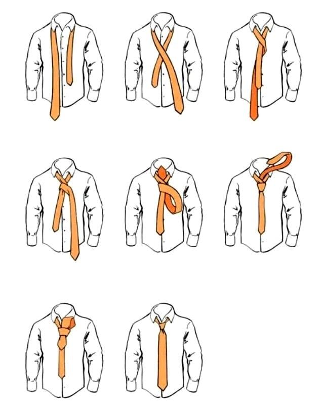 Классический галстучный узел