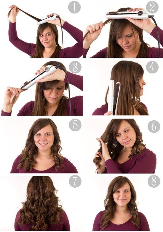 Как накрутить волосы с помощью плойки