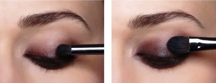 Темный макияж глаз