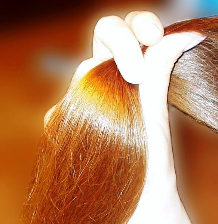 Красивый блеск волос