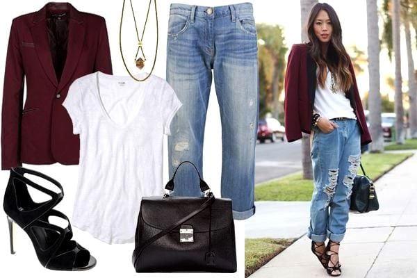Что надеть с джинсами