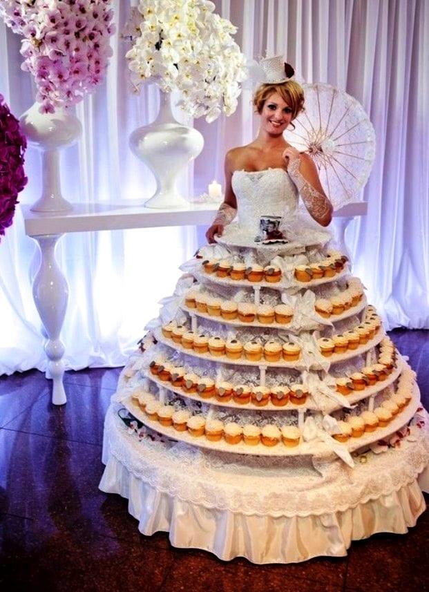 Шокирующее платье свадебное