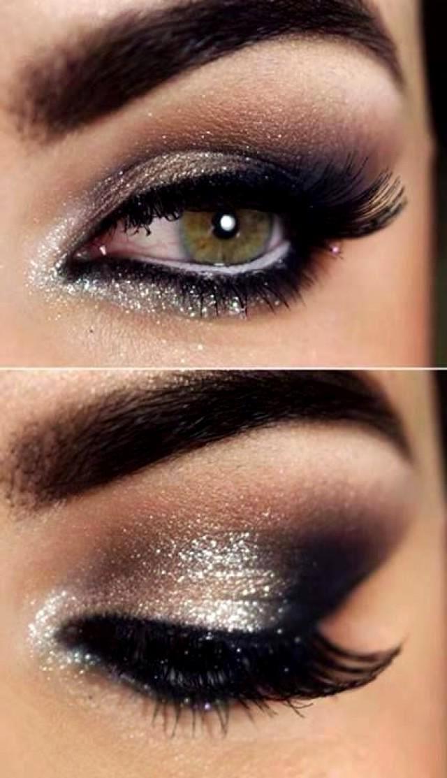 Черный вечерний макияж