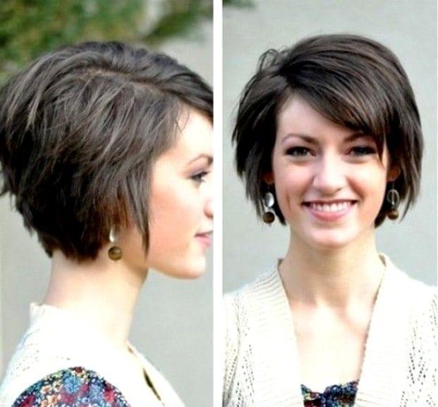 Стрижки для овального лица с челкой на короткие волосы