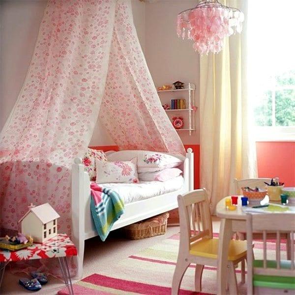 Балдахины над детской кроватью фото своими руками