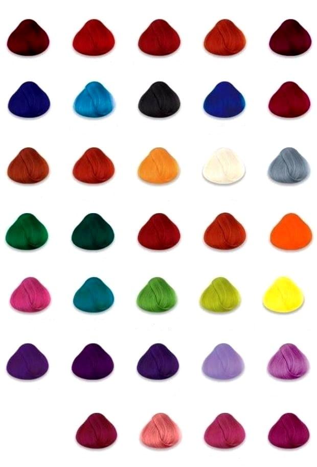 Волосы нереальных цветов