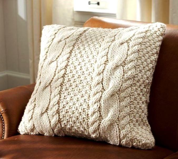 Вязание накидок на подушки 206