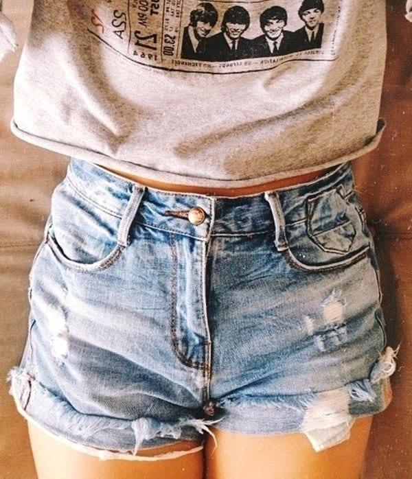 Короткие джинсовые шорты Короткие джинсовые шорты фото