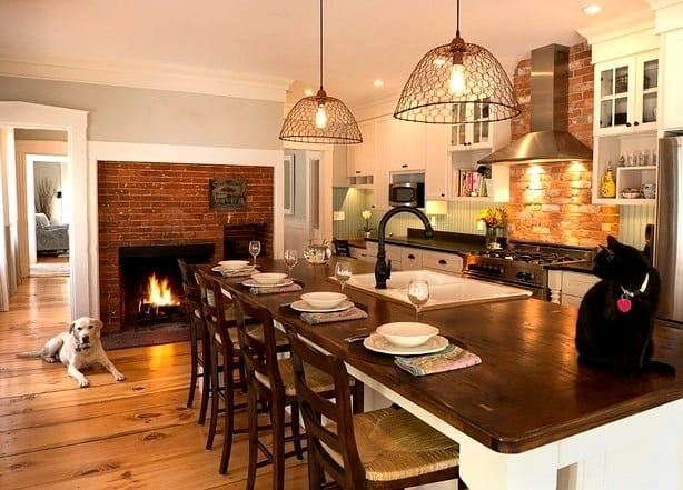 Кухня в частном доме