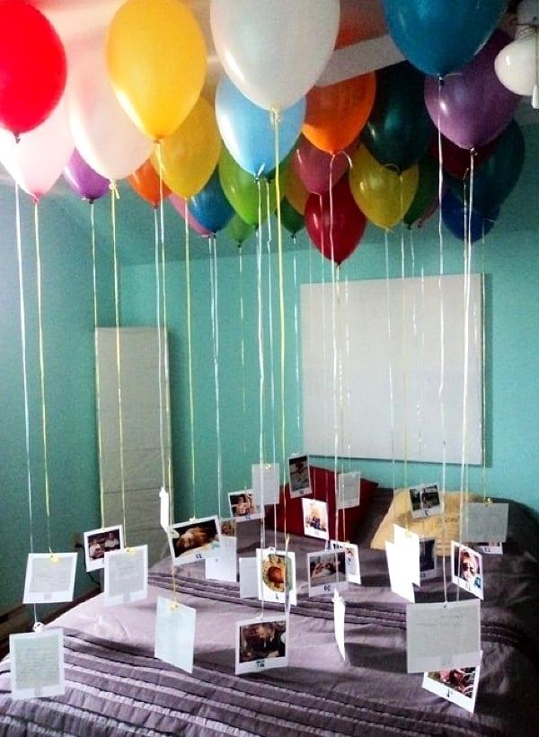 Украшенная комната на день рождения мужчине