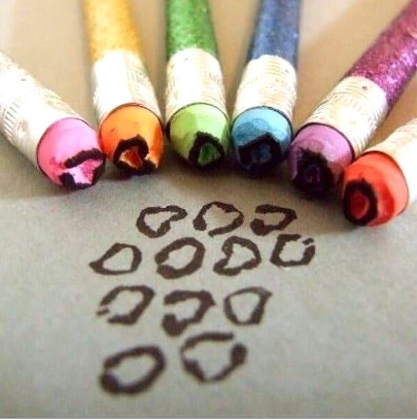Новое применение старых карандашей
