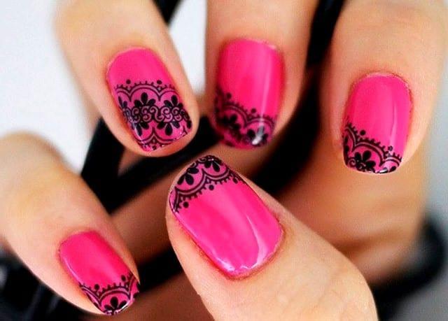"""Рисунок на ногтях """"кружево"""""""