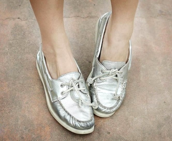 """Обувь цвета """"металлик"""""""