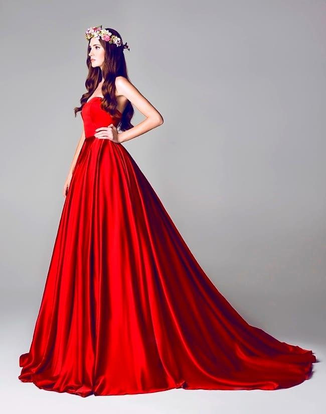 Цветные свадебные платья | Вечерние