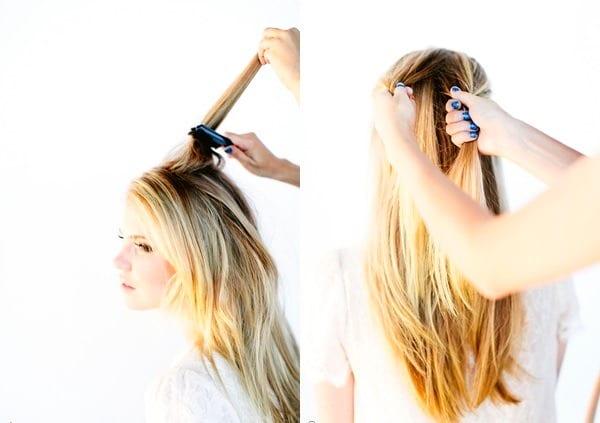 Как сделать перевернутую косу