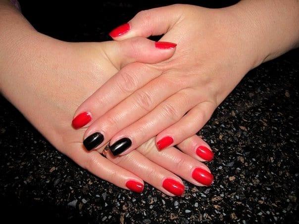 Красно-черные ногти
