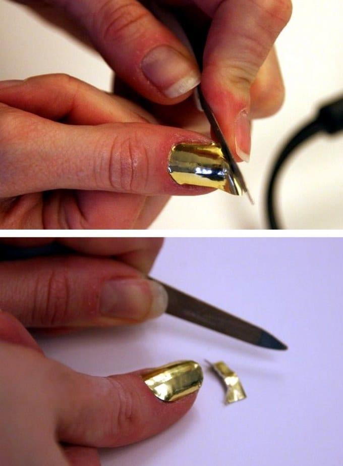 Золотая фольга для ногтей 34