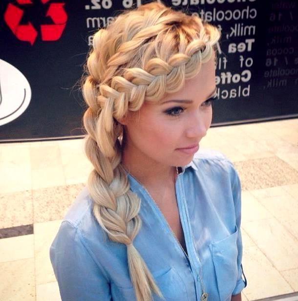 Прически с французской косой на средние волосы