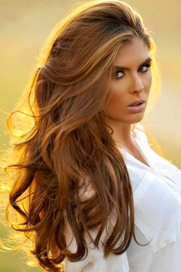 Цвет волос золотисто ореховый