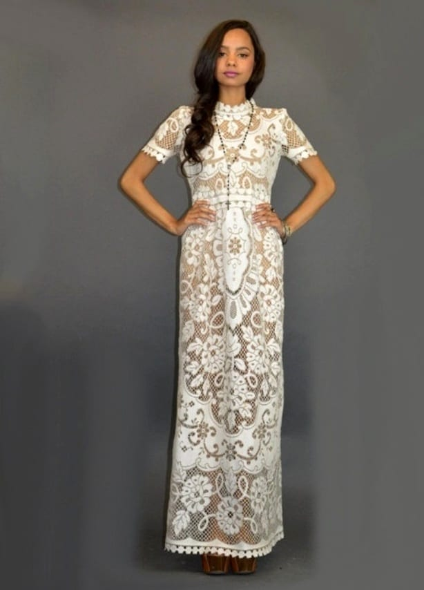 платья из гипюра вечерние платья из