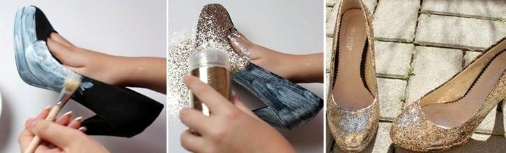 как украсить босоножки своими руками фото